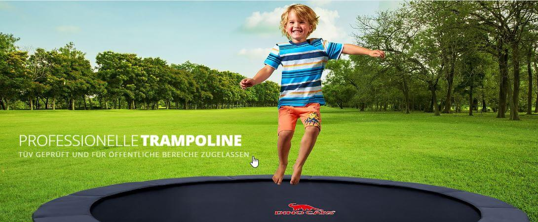 DINO CARS Trampoline - Marktneuheit jetzt bei TRAMPOLIN PROFI
