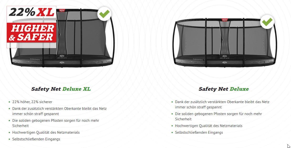 Safety Net Deluxe XL - BERG Neuheit 2020 - trampolin-profi.de
