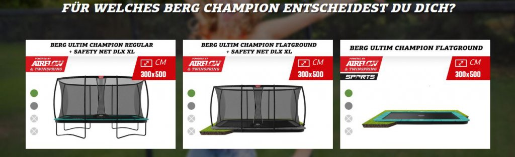 BERG Ultim Champion: großartig in jedem Bereich - trampolin-profi.de Ratgeber