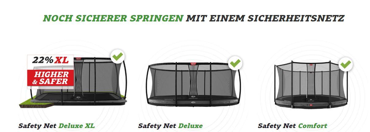 BERG Safety Net Deluxe XL - Neuheit - jetzt auf trampolin-profi.de