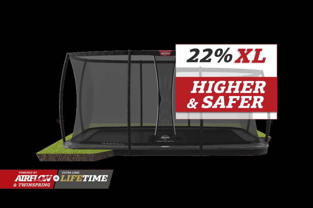 Sicherheitsnetz Deluxe XL von BERG - jetzt kaufen auf trampolin-profi.de