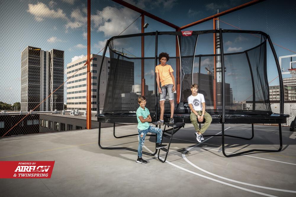 BERG ULTIM ELITE REGULAR 500 + SAFETY NET DLX XL - Neuheit auf trampolin-profi.de