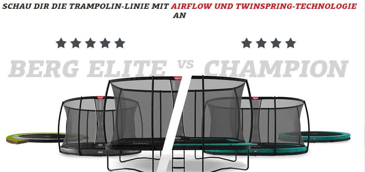 Generation Bounce: nur mit BERG Technik springt man himmelhoch - Ratgeber trampolin-profi.de