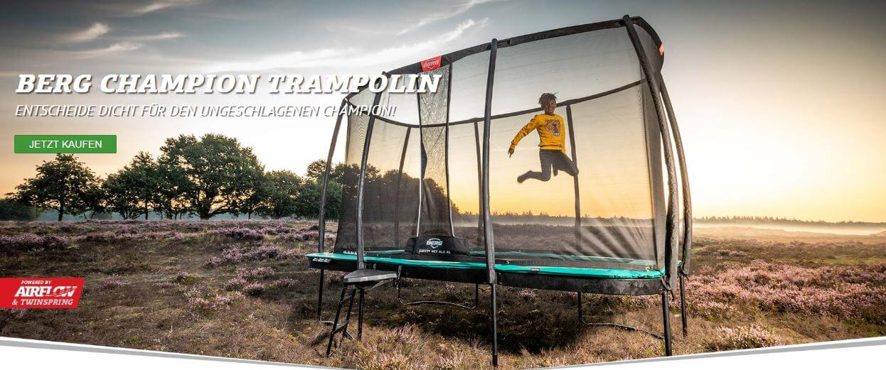 BERG Ultim Champion - Generation Bounce Trampolin - kaufen auf trampolin-profi.de