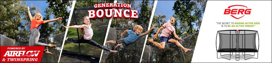 Generation Bounce - aktuelle Kollektionen BERG Trampolin - Beratung trampolin-profi.de ☎ 09188-9999001