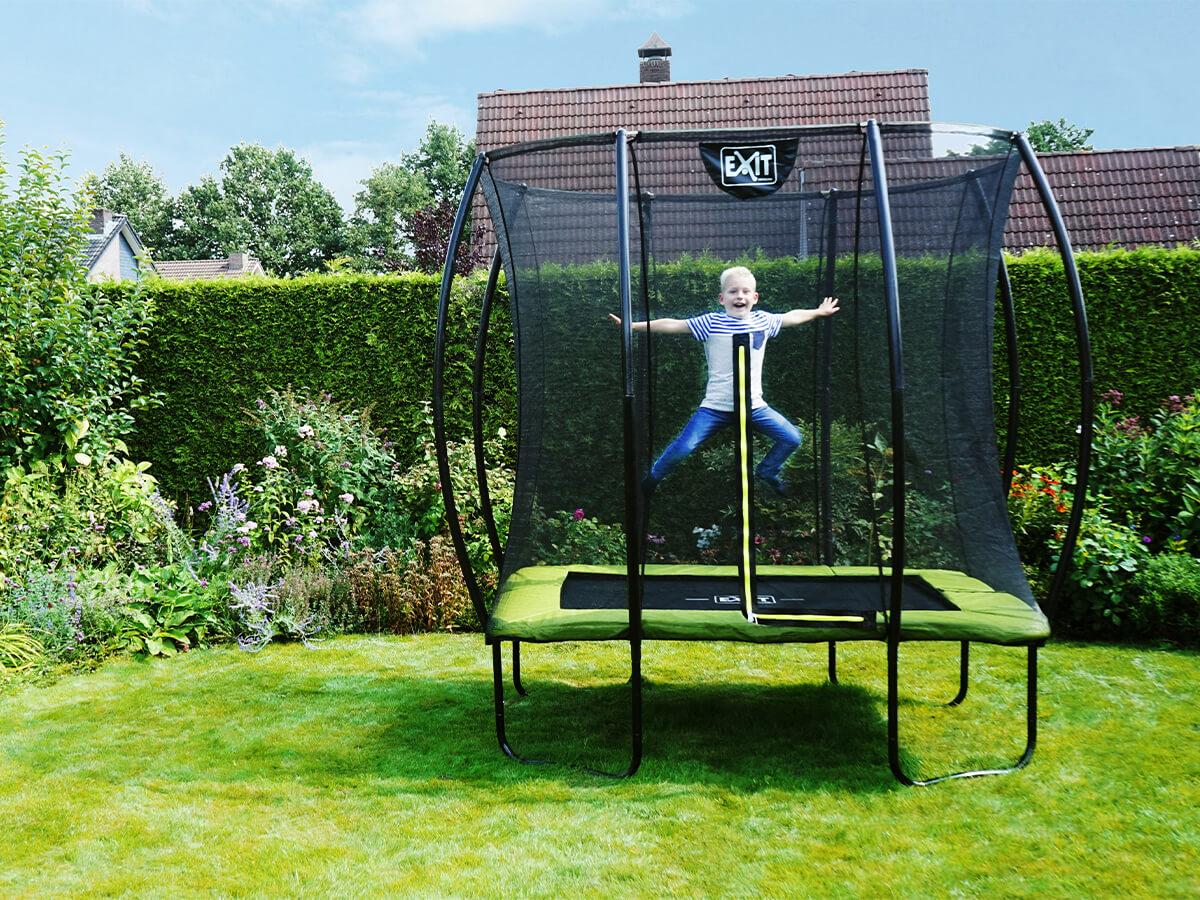 EXIT Silhouette Rechteckig für den kleinen Garten - 153 x 214 cm - Beratung trampolin-profi.de
