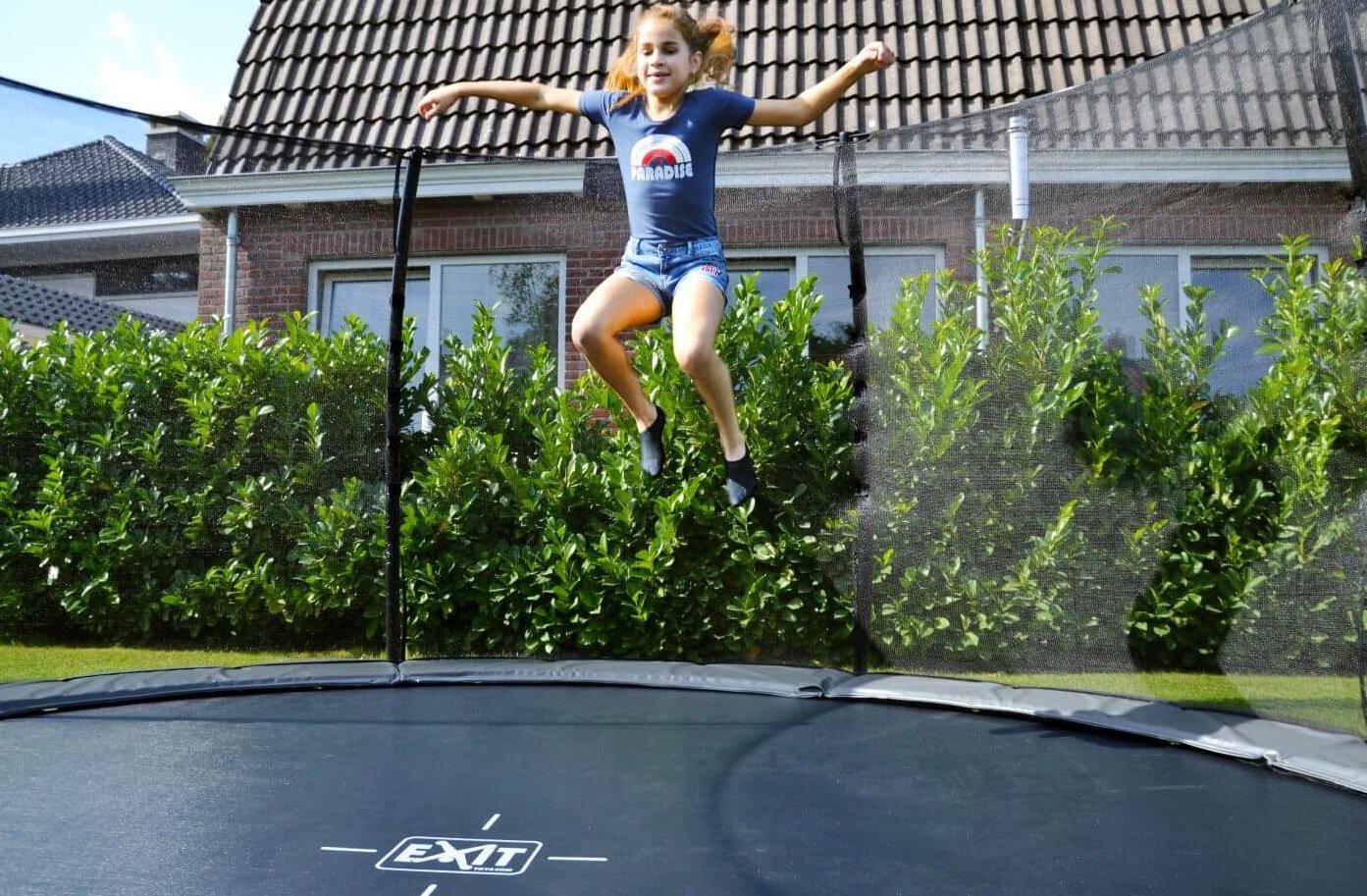 EXIT-Trampolin-Elegant-Ground-Premium-R-305-cm-lila-mit-Netz-Deluxe - kaufen auf trampolin-profi.de