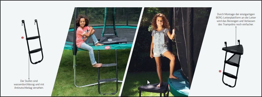 Trampolin Leiter__BERG-TOYS__oval - trampolin-profi.de