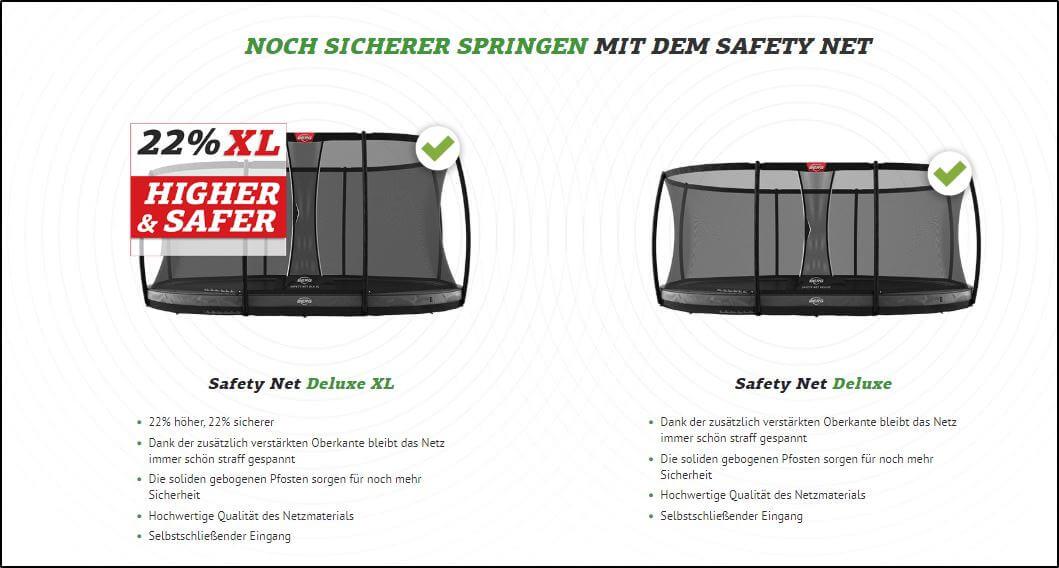 Sicherheitsnetz XL - BERG Net Deluxe XL kaufen auf trampolin-profi.de