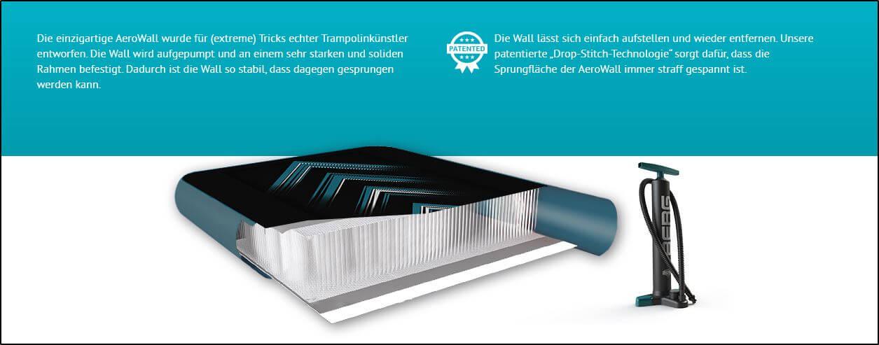 BERG Trampolin Ultim Elite Flatground 300 x 500 cm inkl. AeroWall - kaufen auf trampolin-profi.de