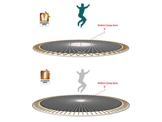 BERG Sports Reihe mit Twin Spring Federung - trampolin-profi.de