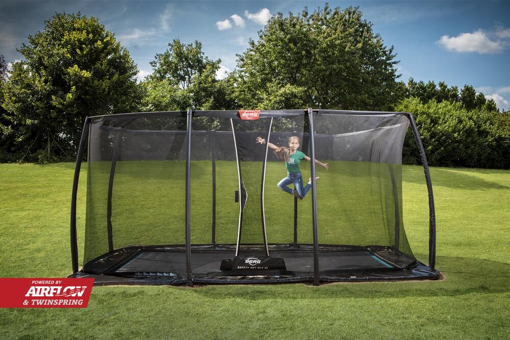 Sicherheitsnetz Deluxe XL = 40 cm höher - Ratgeber trampolin-profi.de