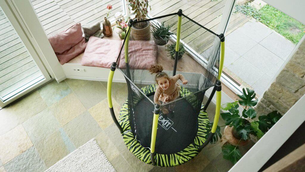 EXIT Tiggy Junior Trampolin - Sicherheit auch für Kleinkinder - trampolin-profi.de