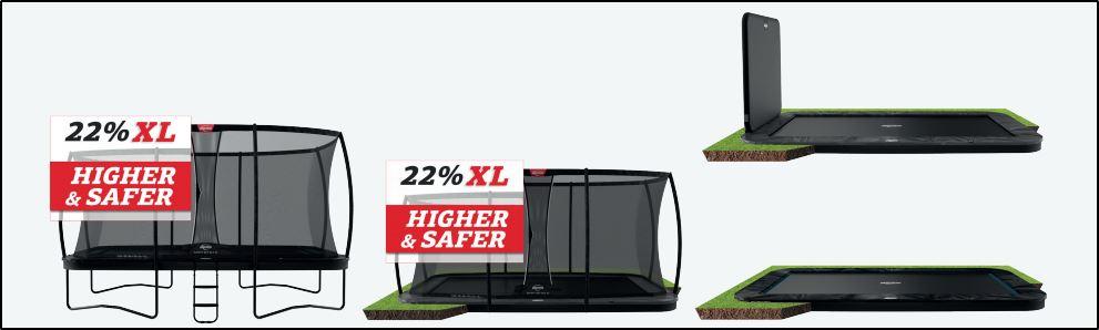 BERG Ultim 500 Varianten - kaufen auf trampolin-profi.de