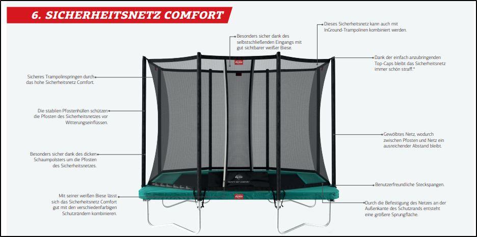 BERG Sicherheitsnetz Comfort - trampolin-profi.de - Beratung und Verkauf