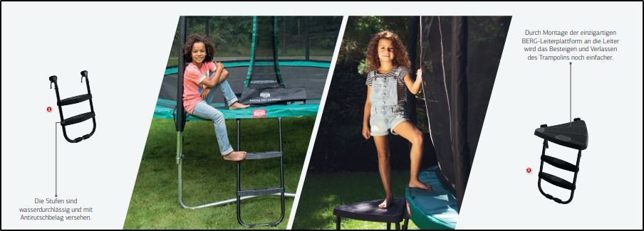 BERG Leiter Auswahl - kaufen auf trampolin-profi.de