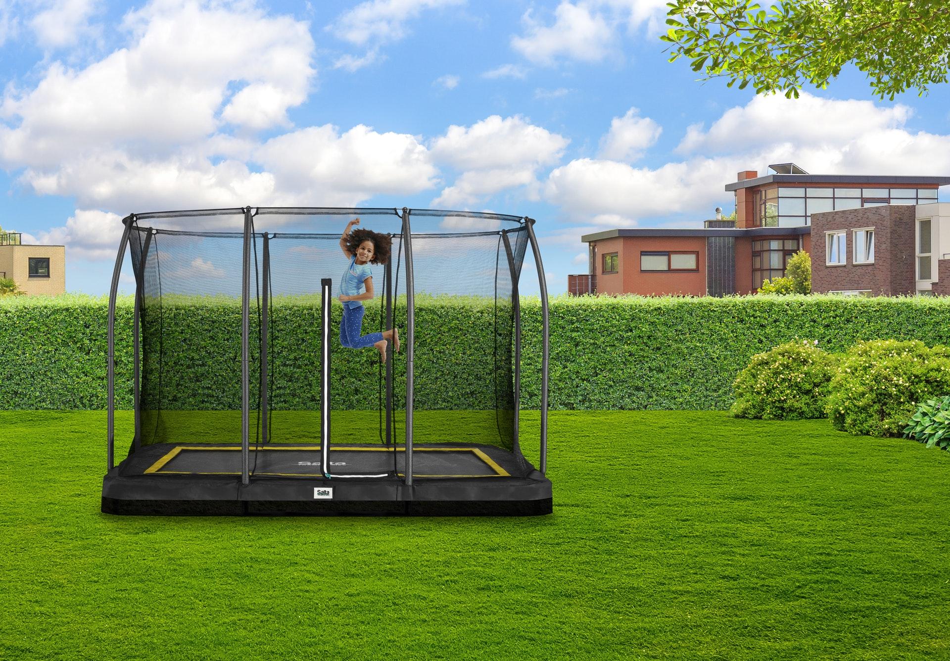 SALTA-TRAMPOLIN__Inground-mit-Netz__SALTA-Comfort - trampolin-profi.de
