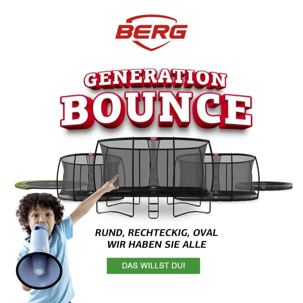 BERG-Trampolin Generation Bounce - kaufen auf trampolin-profi.de