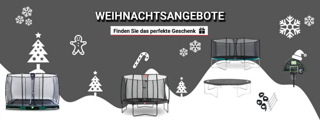 Weihnachtsangebote bei trampolin-profi.de - immer das richtige Geschenk