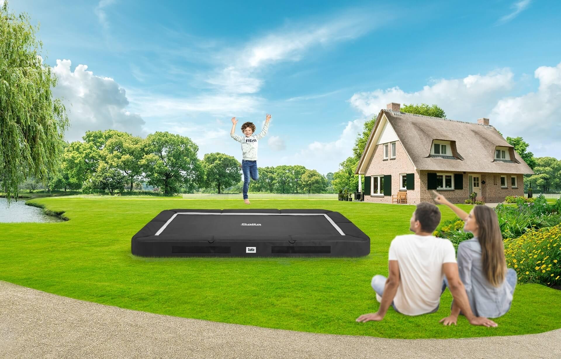 SALTA Premium Ground Trampolin - jetzt vorbestellen bei trampolin-profi.de