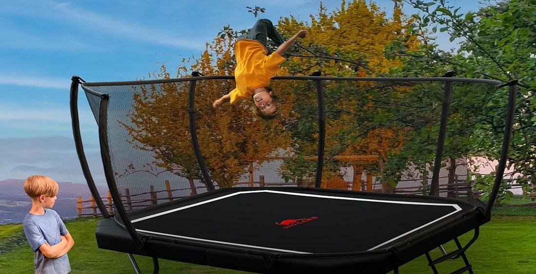 DINO Trampolin Rechteckig - kaufen auf trampolin-profi.de