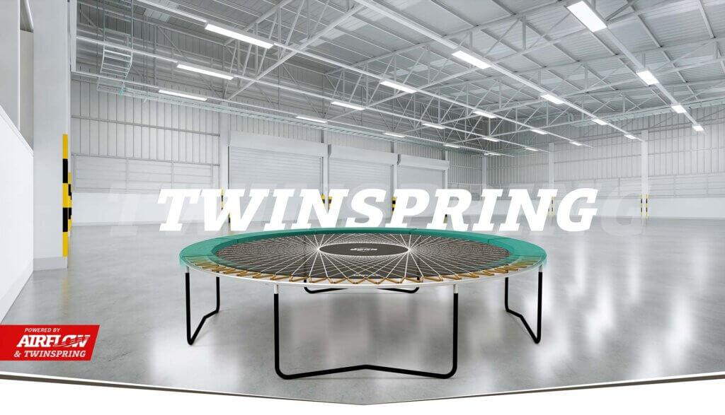 Zu empfehlen: TwinSpring Federung bei den BERG Trampolinen - Ratgeber trampolin-profi.de