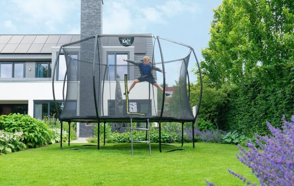 EXIT Silhouette Trampolin für den Garten - Top Angebot bei trampolin-profi.de