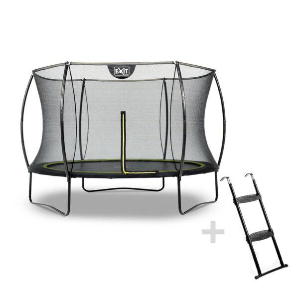 EXIT Trampolin Silhouette mit Leiter im Set auf trampolin-profi.de