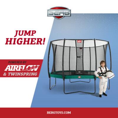 Trampolin Training wie bei der NASA auf BERG Trampolinen - trampolin-profi.de