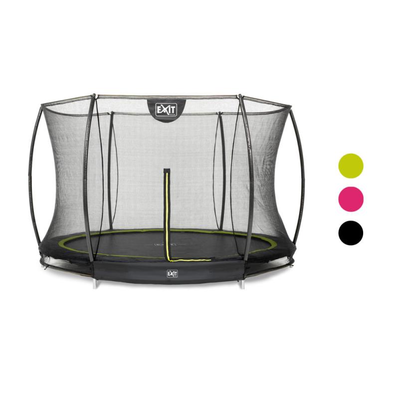 Spielzeug für draußen Trampolin EXIT Silhouette mit Sicherheitsnetz Ø305cm schwarz