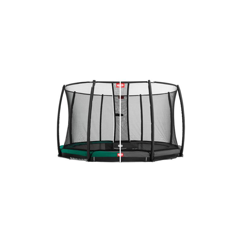 BERG Trampolin Champion Inground grün/grau + Netz Comfort/Deluxe