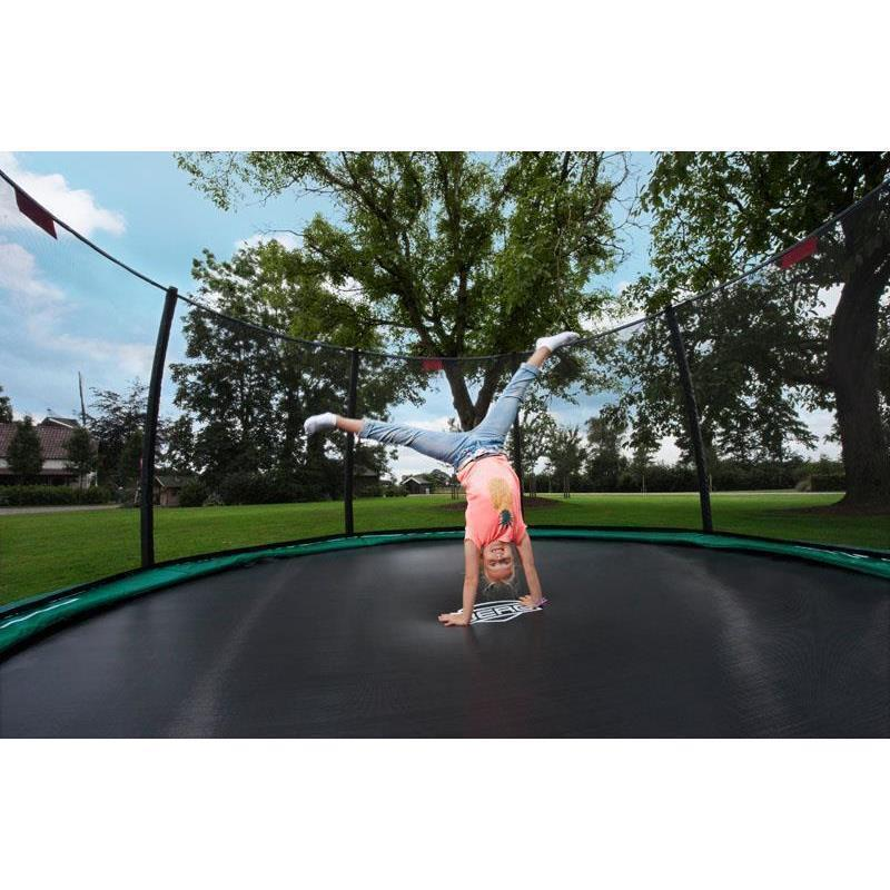 BERG Trampolin Champion Ø 330 cm Inground grün m. Netz Deluxe