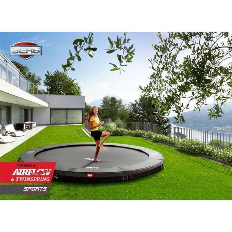 BERG Trampolin Champion Ø 330 cm Sports InGround grau