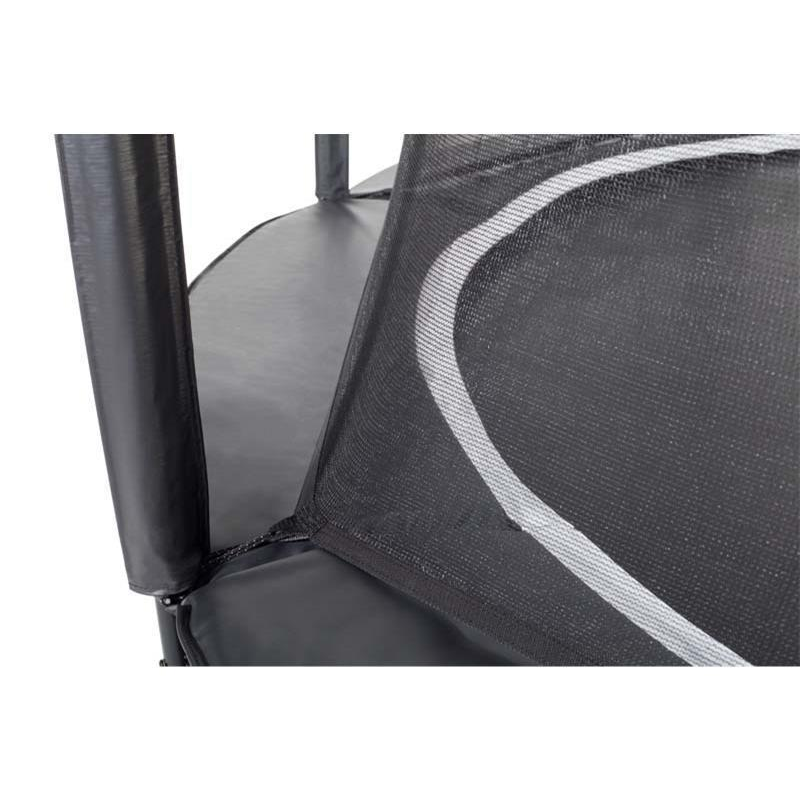 Salta Bodentrampolin Royal Base Ground schwarz mit Sicherheitsnetz