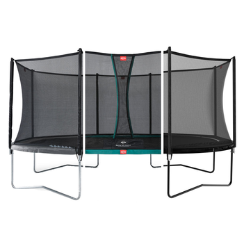 BERG Trampolin Grand Favorit oval 345 x 520 cm mit Netz...