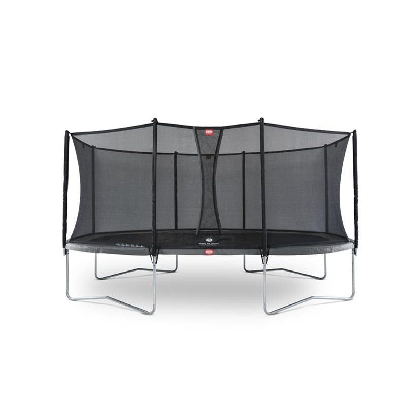 BERG Trampolin Grand Favorit oval 520 x 345 cm grau mit Netz Comfort