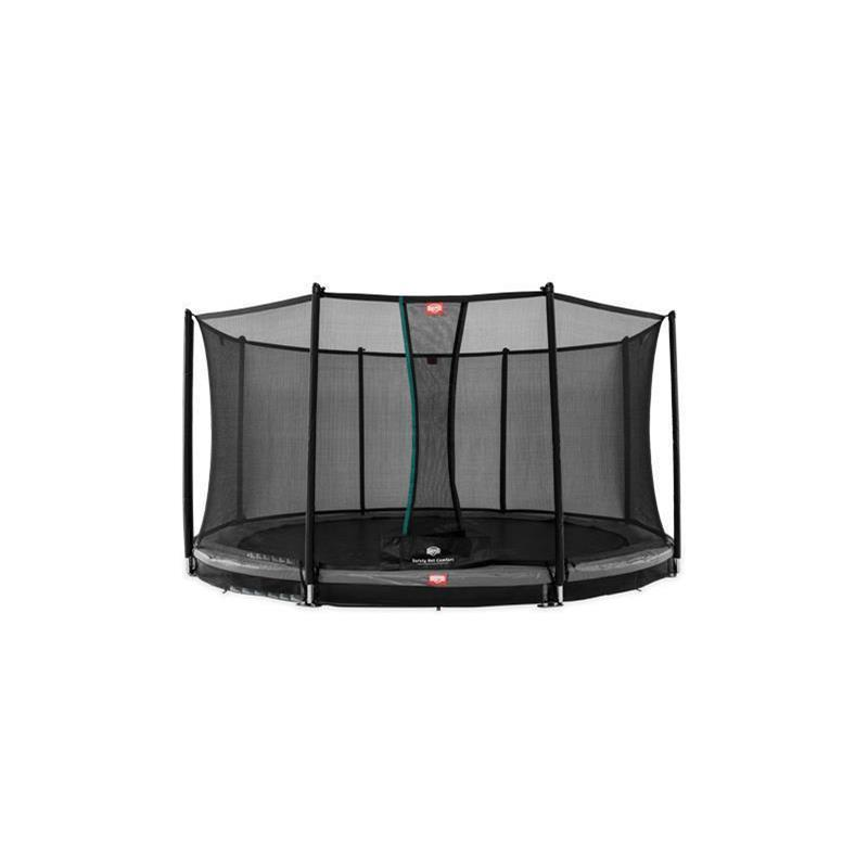 BERG Trampolin Favorit Ø 430 cm InGround grau m. Netz Comfort