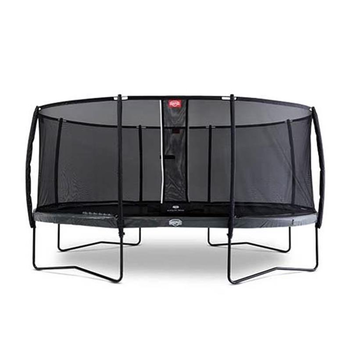 BERG Trampolin Grand Elite oval 520 x 345 cm grau Regular...