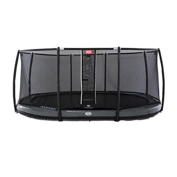 BERG Trampolin Grand Elite oval 520 x 345 cm grau...