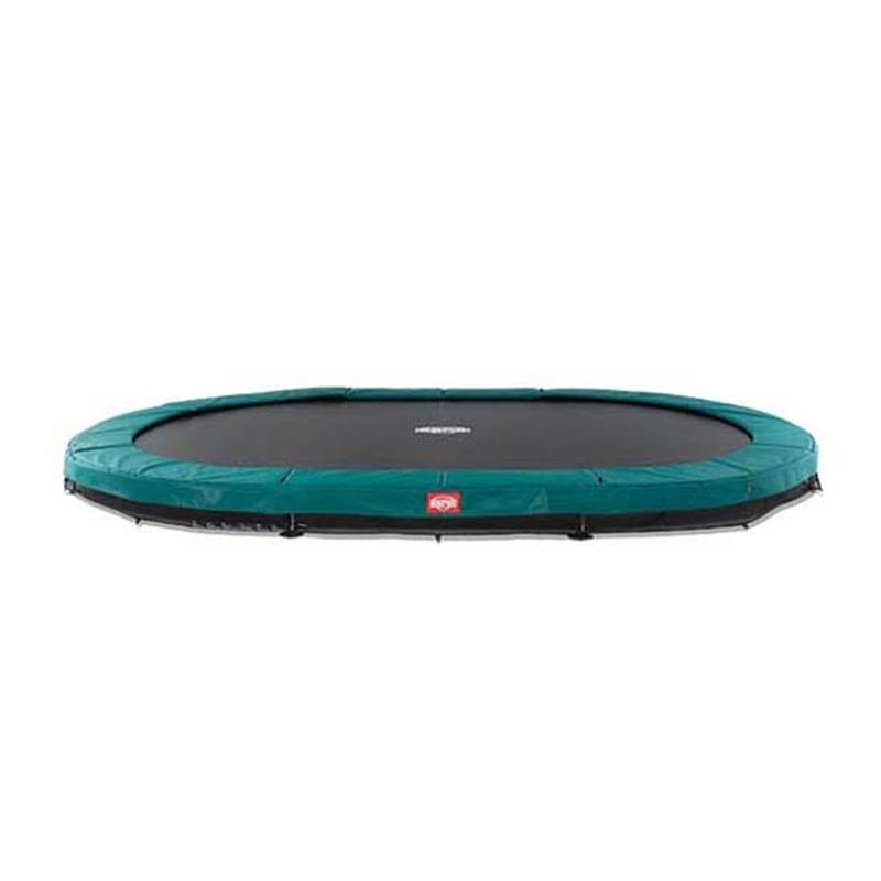 BERG Trampolin Grand Champion oval Inground Sports 520 x 350 cm grün