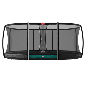 BERG Trampolin Grand Champion oval Inground Sports grün...