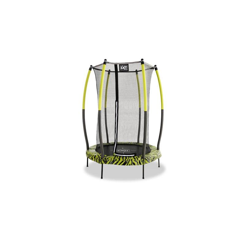EXIT Trampolin Tiggy Junior Ø 140 cm lime Sicherheitsnetz