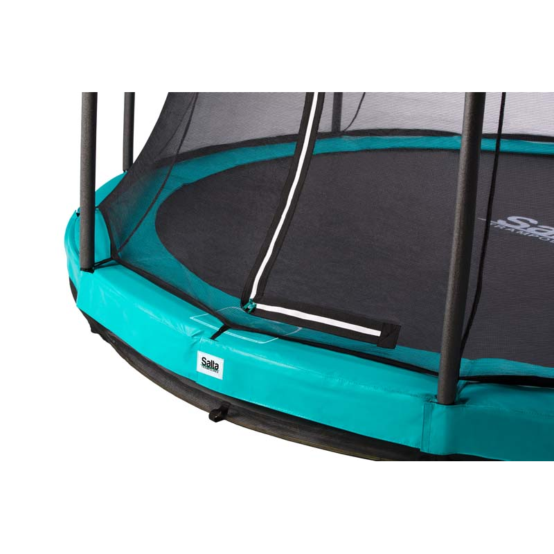 Salta Trampolin Comfort Edition Ground Ø 427 cm grün mit Netz