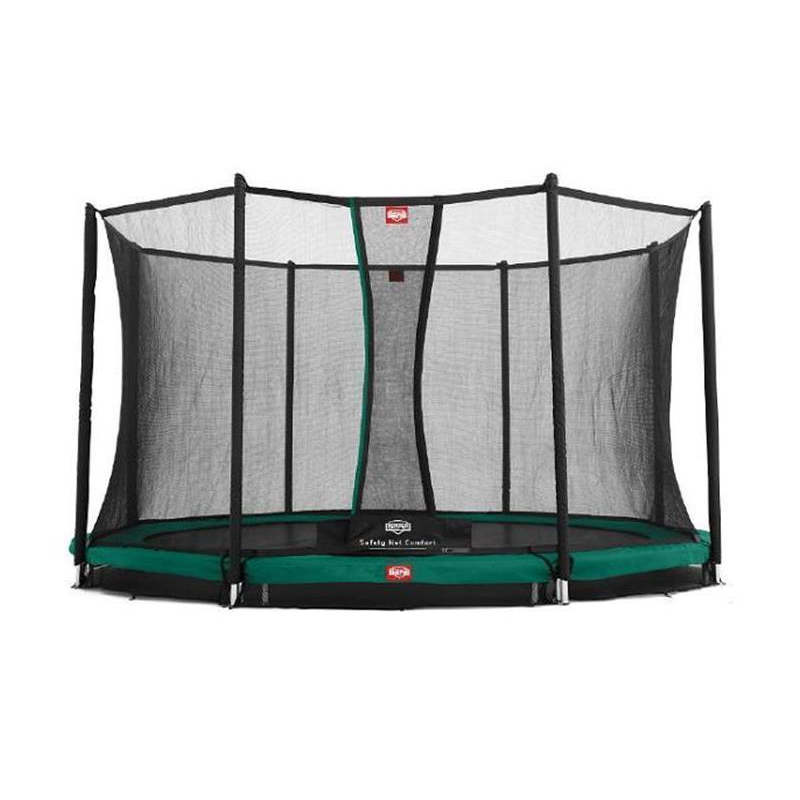BERG Trampolin Favorit Ø 380 cm InGround grün m. Netz Comfort